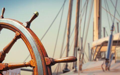 Steuer Segelboot